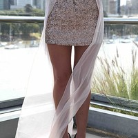 CHIFFON TAIL SEQUINS SKIRT , BOTTOMS,,Skirts Australia, Queensland, Brisbane