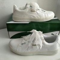 """""""Puma"""" Women Casual Simple Fashion Ribbon Plate Shoes Small White Shoes Sneakers"""