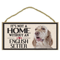 Imagine This Wood Sign for English Setter Dog Breeds