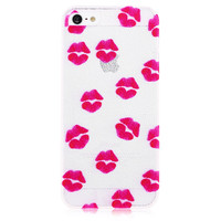 Lips Transparent Hard Back Cove Case for iPhone 5 & 5S