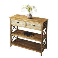 Modern Expresso Console Table Finish