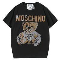Moschino Women Men Fashion Casual  Short Sleeve