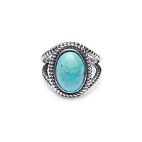 Women's Silver Ring with Turquoise Stone