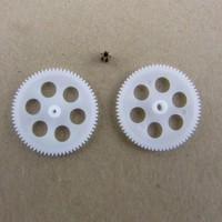 Fine Toy Rc Helicopter Gears Mixed 3pcs 701A +702A+71A Metal Copper Gears 0.3M Rc Model Plane Slow Down Copper + Plastic Gears
