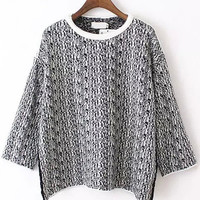 Black Casual Knit Sweater