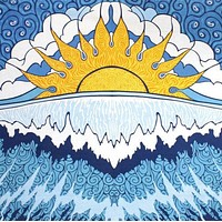 Cotton Sun Wave Surf Tapestry Wall Hanging Dorm Decor Beach Sheet