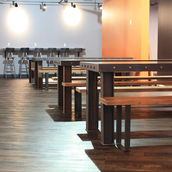 The Long Island Conference/ Dining table - Modern Industrial Office Design