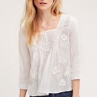 Collaged Lace Top