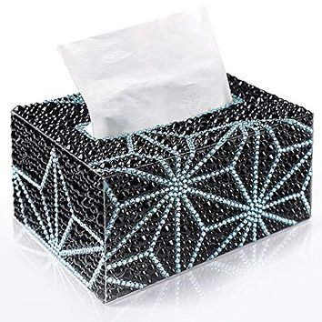 PuTwo Tissue Box Cover, Diamond Painting Tissue Holder, DIY Tissue Box Holder, Rectangle Tissue Box, Tissue Box Cover for Night Stands, Countertop, Vanity, Bedroom, Kitchen, Living Room [DIY required]