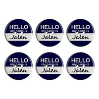 Jalen Hello My Name Is Plastic Resin Button Set of 6