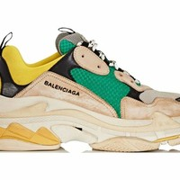 HCXX Balenciaga Triple S - Beige Green Yellow