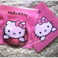 100pcs/lot 2size Cookie plastic bags pink hello kitty bags cake snack baking packages10x10cm