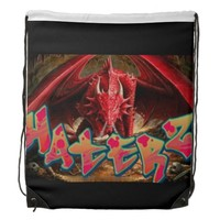 Haterz red dragon stomp cinch bags