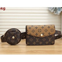 LV Shoulder Bag Louis Vuitton LV Crossbody bag Two Piece Waist Bag With Key Pouch Coffee+Brown