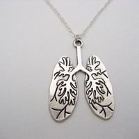 Human Lungs Necklace Science Necklace Biology Necklace Anatomical Necklace Anatomy Necklace Lungs Jewelry Anatomy Jewelry Biology Gift
