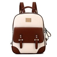 Nasis Vintage Retro British Wind Shoulders Bag Fashion Girl's Student Backpack School Bag BAG33