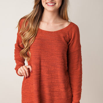 Never Leave You Rust Sweater