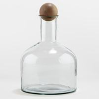 Glass Decanter with Wooden Stopper - World Market