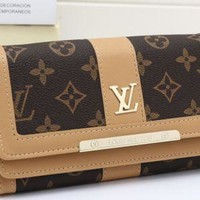 LV fashion leather long wallet[380345286692] F
