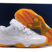 Air Jordan 11 Retro AJ11 Low Girls Citrus Sneaker Shoes US5.5-13