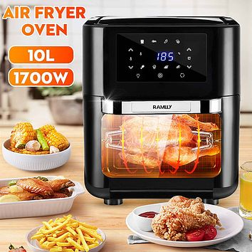 1700W 10L Oil free Air Fryer Oven Health Fryer Cooker Smart Touch LED Airfryer Pizza Multi function Smart Fryer for French fries