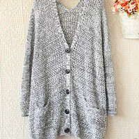 TO V-NECK KNIT SWEATER Fashion CARDIGAN for girls