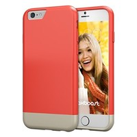 iPhone 6 Case, Maxboost [Vibrance Series] Protective Slider Case for Apple iPhone 6 (4.7) [Lifetime Warranty] SOFT-Interior Scratch Protection with Vibrant Trendy Color - Italian Rose / Champagne Gold