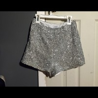 Sequin High-Waisted Shorts
