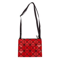 ModeWalk.com: Lucent Red Basic Small Crossbody by Bao Bao Issey Miyake