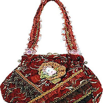 Red Vintage Ribbon Handbag