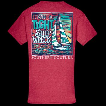 Southern Couture Classic Tight Ship Wreck Mom T-Shirt