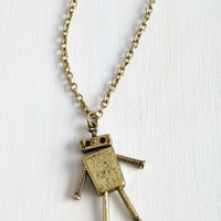 Quirky Lost in Bot Necklace by ModCloth