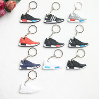 Mini Silicone NMD Key Chain Bag Charm Woman Men Kids Key Ring Gifts Sneaker Key Holder Pendant Accessories Jordan Shoes Keychain