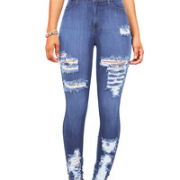 Torment Distressed High Waist Skinnys