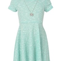 "George A Ltd Big Girls' ""Northern Knit"" Skater Dress with Necklace"