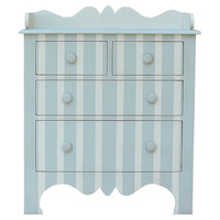 Harry Striped Dresser, Cream/Seafoam, Dressers