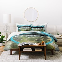 Sophia Buddenhagen Blue Circle Duvet Cover