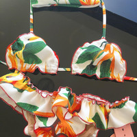 Summer Hot Swimsuit Beach New Arrival Swimwear Leaf Print Sexy Bikini [11686233551]