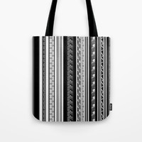 b and w serie #8 Tote Bag by Florencia Mittelbach Marenco