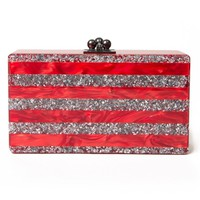 Edie Parker 'Jean' striped clutch