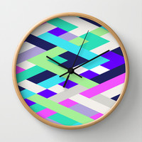 Smart Diagonals Radiant Orchid Wall Clock by House of Jennifer
