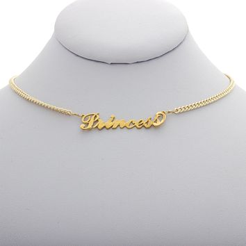 Princess Nameplate Necklace
