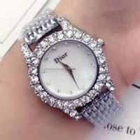 GCKN6V DIOR Diamond Trending Watch Ladies Men Watch Little Ltaly Stylish Watch Sliver G-YF-GZYFBY