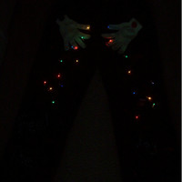 Ugly Christmas Sweater  Corduroy Pants Men Size W36/L30 Feel the Joy with lights handmade design