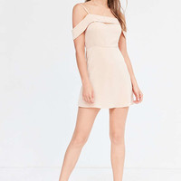 Silence + Noise Satin Off-The-Shoulder Mini Dress - Urban Outfitters