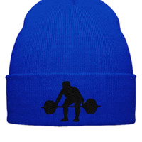 WEIGHT LIFTER Embroidery - Beanie Cuffed Knit Cap
