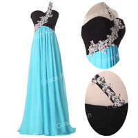 2016 CHEAP CHIFFON Long Formal Evening Gown Bridesmaid Prom Wedding Party Dress