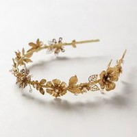 Gilded Bloom Headband by Katie Burley Gold One Size Hair