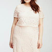Floral Lace Layered Dress