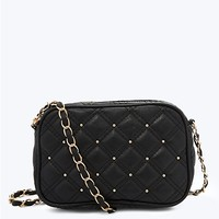 Stud Quilted Crossbody